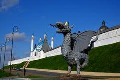 Kremlin de Kazan, Kazan Rusia Imagens de Stock Royalty Free