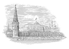 Kremlin de Moscou ilustração royalty free