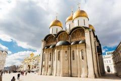 Kremlin de Moscou, catedral de Dormition fotografia de stock royalty free