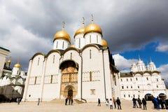 Kremlin de Moscou, catedral de Dormition imagem de stock royalty free