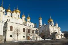 Kremlin de Moscou, catedral do aviso foto de stock royalty free