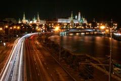 Kremlin de Moscou na noite Foto de Stock Royalty Free