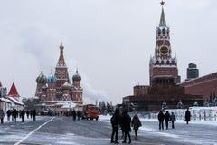 Kremlin de Moscou, quadrado vermelho, St Basil Cathedral Imagem de Stock