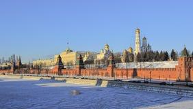 Kremlin de Moscou, vista panorâmica fotografia de stock