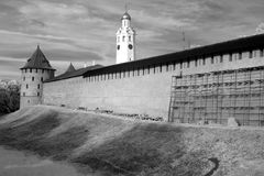 Kremlin (Detinets-forteresse) Novgorod grand images libres de droits