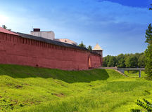 The Kremlin (Detinets-stronghold). Great Novgorod. Russia.Landscape in a sunny day Royalty Free Stock Photos