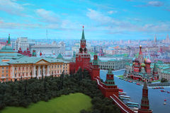 Kremlin in diorama  Royalty Free Stock Images