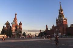 Kremlin e quadrado vermelho em Moscou Foto de Stock