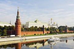 Kremlin Embankment Royalty Free Stock Photos