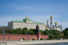 Kremlin embankment Royalty Free Stock Photos
