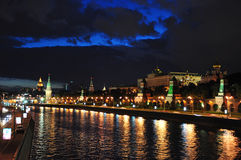 Kremlin Embankment And Sofia Embankment. Royalty Free Stock Photo