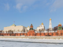 Kremlin Embankment in Moscow Royalty Free Stock Photography