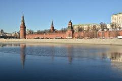 The Kremlin embankment in Moscow. Stock Photos