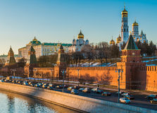 Kremlin embankment of the Moscow river. Stock Image