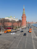 Kremlin embankment in Moscow, Russia Stock Photos
