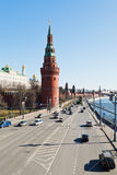 Kremlin Embankment in Moscow Stock Photos