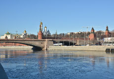 The Kremlin embankment in Moscow. Royalty Free Stock Photography