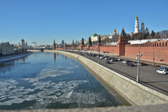 The Kremlin embankment in Moscow. Stock Photo