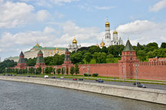 The Kremlin embankment in Moscow. Stock Image