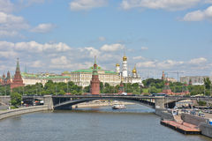 The Kremlin embankment in Moscow. Royalty Free Stock Photos