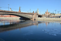 Kremlin embankment in Moscow. Royalty Free Stock Photography