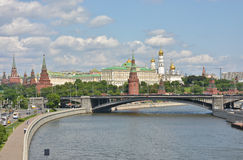 Kremlin embankment in Moscow. Stock Photos