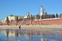 Kremlin embankment in Moscow. Royalty Free Stock Photo