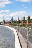 The Kremlin Embankment of Moskva River Moscow city Stock Photos