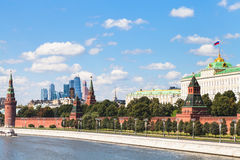 Kremlin embankment, State Palace, Moscow City Stock Image