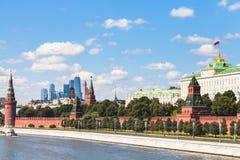 Kremlin embankment, State Palace, Moscow City Stock Image