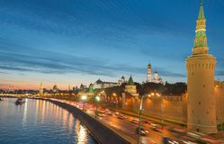 Kremlin embankment Stock Image