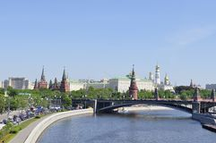 Kremlin embankment Royalty Free Stock Image