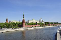 Kremlin embankment Stock Images