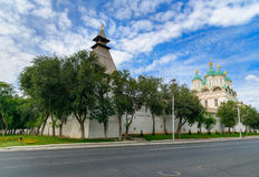 Kremlin en Astrakan Russie Photos stock