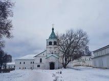 Kremlin et l'ancienne résidence d'Ivan le terrible dans le village d'Alexandre Alexandrov, région de Vladimir, Russie images libres de droits