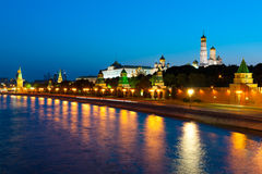 Kremlin evening landscape Royalty Free Stock Images