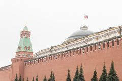 Kremlin - forteca w centrum Moskwa, kompleksie miasto g??wnym politycznym, dziejowym i artystycznym urz?dnik zdjęcia royalty free