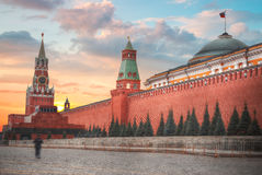 Kremlin. A fortress in the center of Moscow, the main socio-political, historical and artistic complex of the city, the official residence of the President of stock photography