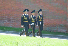 Kremlin guard returns from duty Royalty Free Stock Image