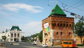 Kremlin at the historical Minin square Stock Photo