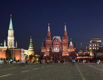 Kremlin and historical museum building on Red Square in Moscow Royalty Free Stock Images