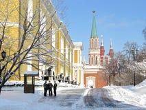 Kremlin i vinter arkivbild