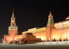 Kremlin im roten Quadrat von Moskau Stockbild