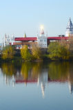 The Kremlin in Izmailovo Moscow Solar flare on the steeple Royalty Free Stock Photos