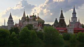 Kremlin in Izmailovo at sunny day, Moscow stock video
