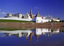 Kremlin of Kazan. City landscape of capital of republic Tatarstan Stock Photography