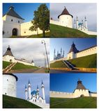 Kremlin in Kazan collage Stock Photography
