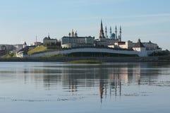 Kremlin in Kazan in morning. Tatarstan, Russia Stock Photo