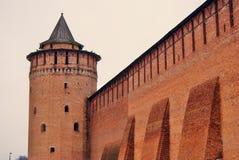 Kremlin in Kolomna, Russia. Marinkina tower.  Color photo. Stock Photo