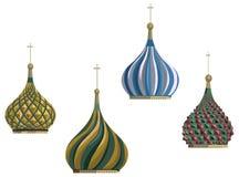 Kremlin kupoler stock illustrationer